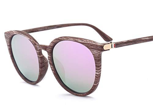 Vintage Protección Forma pequeño Púrpura Gafas UV XIYANG Redonda Grande de Rapero Gafas Sol Marco Niño Retro Claro Gafas Purple Seguridad polarizadas Unisex de 1xO0qawxH