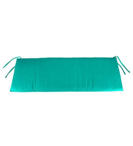 Classic Polyester Outdoor Swing/Bench Cushion, 57'' x 18.75'' x 3'' - Aqua