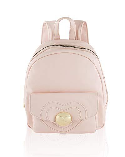 Betsey Johnson Heart Lock Backpack Blush One Size