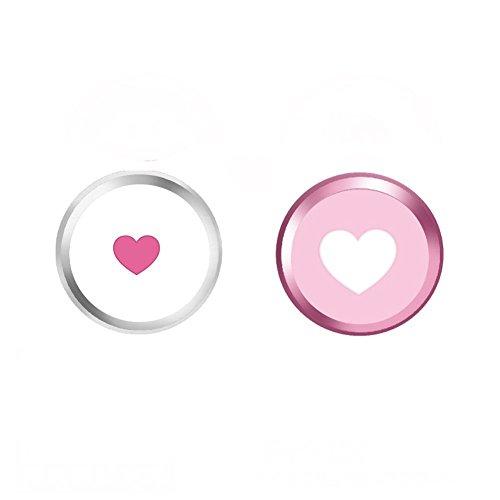 Sakula Home Button Sticker Touch ID Button for iPhone 8 8 Plus 7 7 Plus 6S Plus 6S 6 Plus 6 5S SE iPad mini iPad Air(2 Packs)