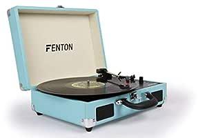 FENTON RP115 Reproductor giradiscos Maleta Azul 102106: Amazon.es ...