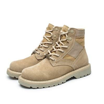LOVDRAM Stiefel Männer Herren Martin Stiefel Pu Paar Werkzeug Stiefel Wüste Militärstiefel Matt Große Größe Herrenschuhe