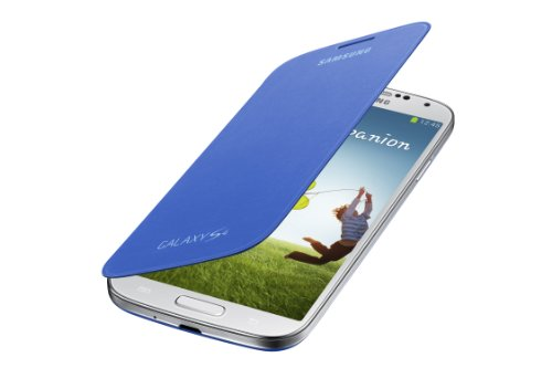 Samsung Galaxy S4 Flip Cover Folio Case (Light Blue)