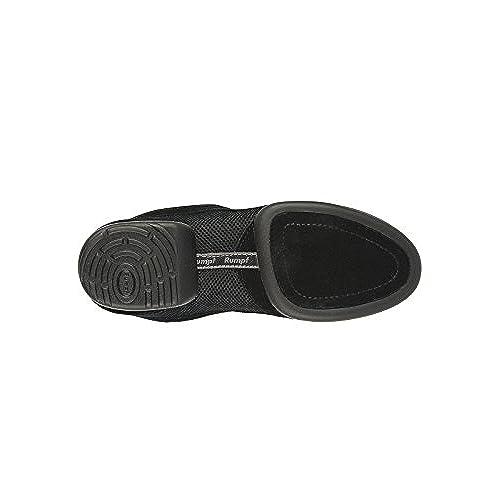 Rumpf Jive 1592 Dance Sneaker Black Split Sole Men Women Front Suede Sole