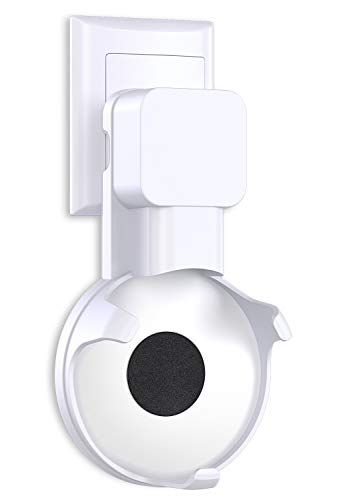 Bovon Outlet Wall Mount Hanger Holder Stand for Dot 3rd Generation & Mi AI, Best Space-Saving Dot Accessories with Cord Management for Smart Home Speaker Without Mess Wires or Screws (White) (White)