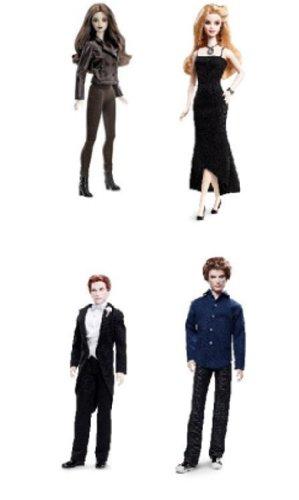 Barbie Twilight Saga Breaking Dawn - Bella as a Vampire, Wedding Edward, Rosalie and Jasper