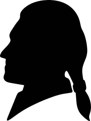 Jefferson Set - NBFU DECALS Thomas Jefferson Silhouette Funny (Black) (Set of 2) Premium Waterproof Vinyl Decal Stickers for Laptop Phone Accessory Helmet CAR Window Bumper Mug Tuber Cup Door Wall Decoration