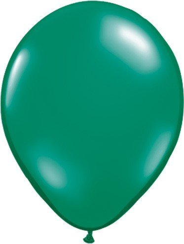 Qualatex 11 Round Balloons, Emerald Green - by Mayflower Products