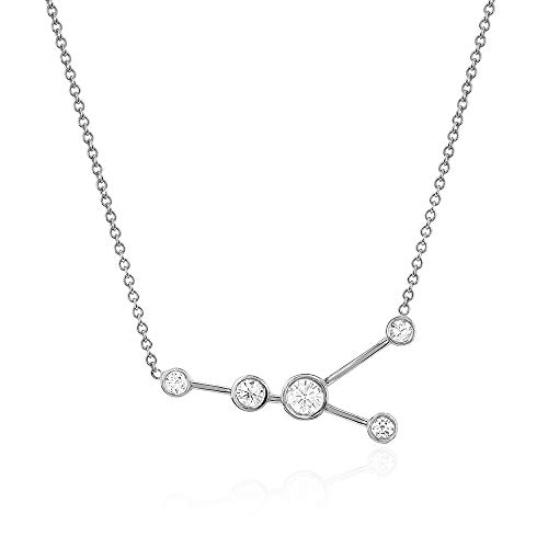 (espere Sterling Silver Zodiac Necklace Constellation Jewelry Birthday Gift Sorority Sister Gift [Cancer - Jun 21 - Jul 22])