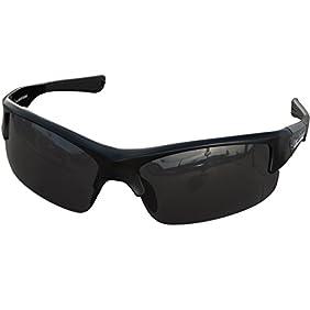 Shield Polarized Sports Sunglasses - Adjustable Shades for Running Fishing Cycling Baseball Softball Tennis Ski - Lightweight, Mens Womens, Dark, Wrap Around