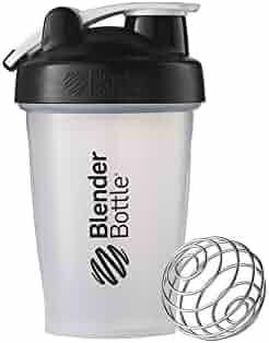 Blender Bottle Classic Loop Top Shaker Bottle, 20 oz, Clear/black