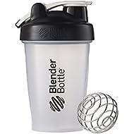 Blender Bottle Classic Loop Top Shaker Bottle, 20-Ounce, Clear/Black