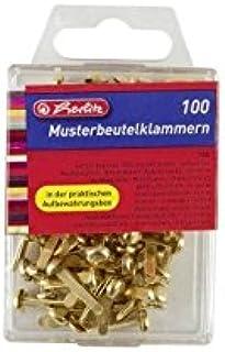 Herlitz 8770307 Attaches parisiennes 100 pièces en métal boîte à accroche