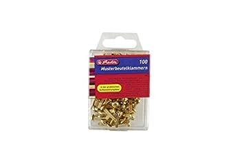 Accroche-sacs Herlitz 8770307 Attaches parisiennes 100 pièces en métal boîte à accroche