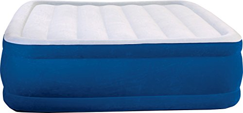 Simmons Beautyrest Plush Aire Inflatable Air Mattress: Raised-Profile Air Bed with External Pump, Queen Boyd Night Air
