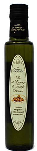 Terra Sanpietrese White Truffle Oil Double Concentrate (250ml) – Italian Olive Oil and White Truffle – Gourmet Food…