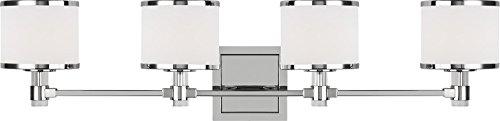 Feiss VS24374CH-L1 Winter Park LED Bathroom Vanity Light Fixture, Chrome 4-Light (32