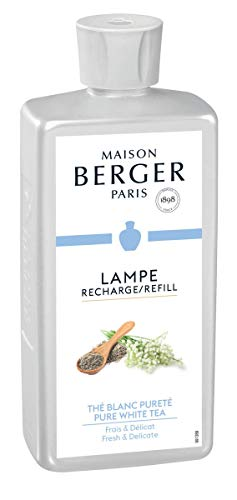 (Maison Berger (Lampe Berger - Pure White Tea Fragrance -Fresh & Delicate - 16.9 Ounce/Nonreturnable Item/Can Not Be Shipped Into California)