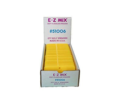 E-Z Mix 51006 6'' Body Filler/Glaze Spreader 100 Pack by E-Z Mix (Image #4)