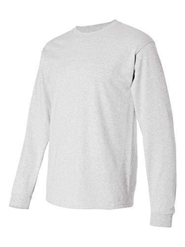 Hanes TAGLESS 6.1 Long Sleeve T-Shirt, Ash, XL