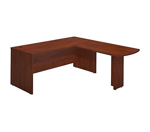Wood & Style Office Home Furniture Premium Series C Elite 72W x 30D Desk Shell with 48W Peninsula Return in Hansen Cherry