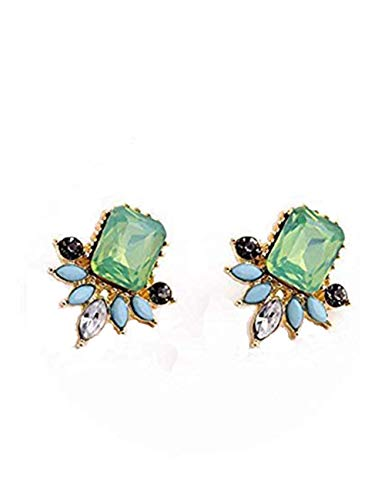 Cluster Earrings Studs Teardrop Crystal Rhinrstone Drop Dangle Earrings for Women Green ()