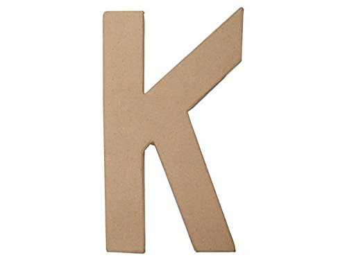 Craft Ped Paper CPL1006251-K.K Mache Letter K Kraft, 8