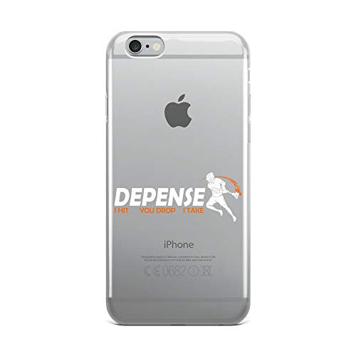 iPhone 6 Plus/6s Plus Pure Clear Case Crystal Clear Cases Cover Defense Defender Stick Lacrosse Player Transparent