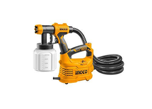 Metal Ingco 500W Hvlp Floor Based Electric Paint Spray Gun (Orange) 1