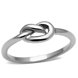less Steel Infinity Knot Stoneless Ring ()