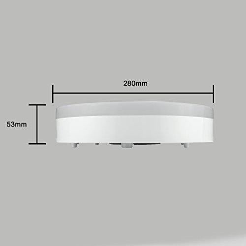 J&c® plafoniere da soffitto moderne/plafoniera led ip44 18w 1200lm ...