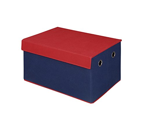 Bintopia Storage Trunk Collapsible Top, Blue/Red by Bintopia