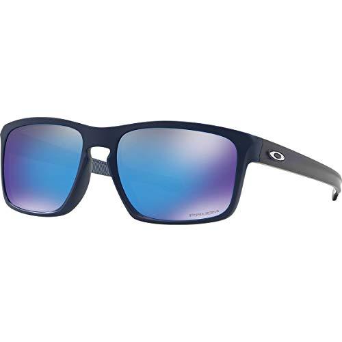 Oakley Men's Sliver Asian Fit Sunglasses,OS,Matte Navy/Prizm Sapphire ()