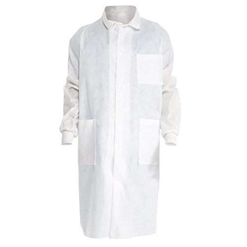 Kimberly Clark Universal Precautions Lab Coats (10043), Protective 3-Layer SMS Fabric, Back Vent, Unisex, White, XL, 25 / Case by Kimberly-Clark
