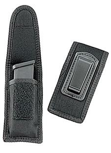 - Uncle Mike's 8824 Under Cover Single Magazine Case with Belt Clip Black Nylon