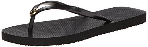 Tory Burch Women's Thin Flip Flop Black/Black 9 - Tory Black