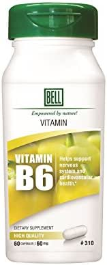 Bell Lifestyle Products Vitamin B6 60mg - 60 Capsules