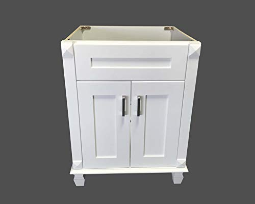 (New white shaker Single-sink Bathroom Vanity Base Cabinet 24