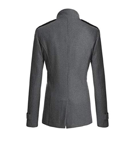 Long Breasted Winter Down Fall Mid Double Turn Grey Outwear RkBaoye Collar Men UI1wAWY