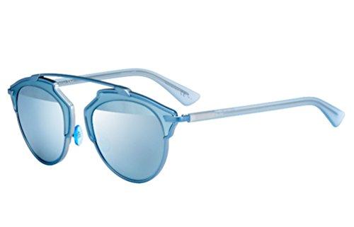 Dior So Real Sunglasses 48mm Clear Aqua RMJLH (Dior Sunglasses)