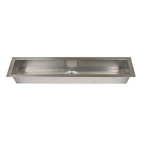 """Naiture 42"""" Stainless Steel Excutive Zero-Radius Trough Sink"""