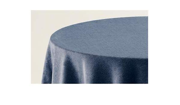 BENEDETTAHOME Falda Mesa Camilla Rectangular Lisa Terciopelo 70x120cm. Azul: Amazon.es: Hogar