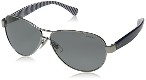 Ralph Sunglasses - 4096 / Frame: Light Silver Lens: Grey - Sun Ralph Glasses