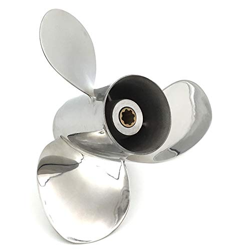 POLARSTORM Outboard Stainless Steel Propeller 9 1/4x9 3/4 for Yamaha Engines 9.9-15HP
