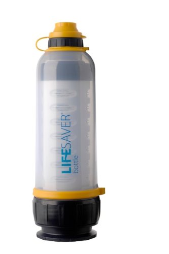 Lifesaver Bottle 4000 Ultra Filtration Water Bottle with Activated Carbon Inserts(4pk), Pre-Filter Disk(2pk)