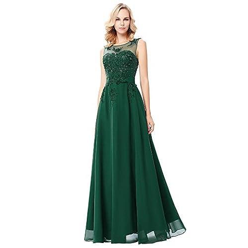 Dark Green Long Gown: Amazon.com