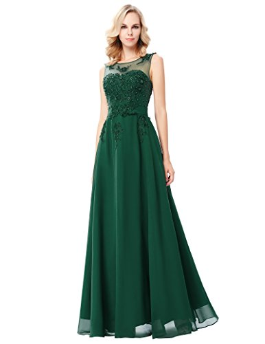 GRACE KARIN Women's Long Evening Gowns Prom Gowns Dark Green Size 16 (Prom Long Dress Dark)