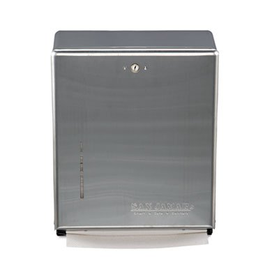 C-Fold/Multifold Towel Dispenser, Stainless Steel, 11 3/8 x 4 x 14 3/4