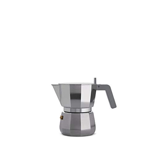 Alessi DC06/3 Moka Espresso coffee maker, 3 cups, grey