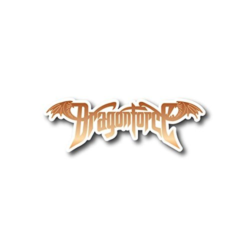 "DragonForce Sticker Rock Band Decal for Car Window, Bumper, Laptop, Skateboard, Wall, ETC. (5"")"
